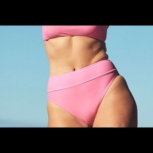 Aerie High Cut High Waisted bikini bottoms - Pink